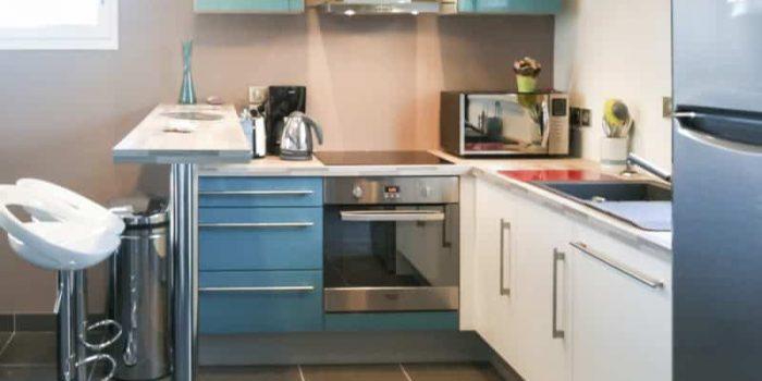 La cuisine de la villa Yana en Bretagne