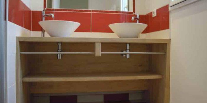 La salle de bain de la Villa Enora